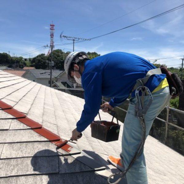 熊本市北区徳王・外壁シーリング及び屋根下塗り完了!