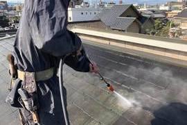 熊本市中央区大江 コロニアル屋根シリコン塗装工事-宮本建装-の施工前画像