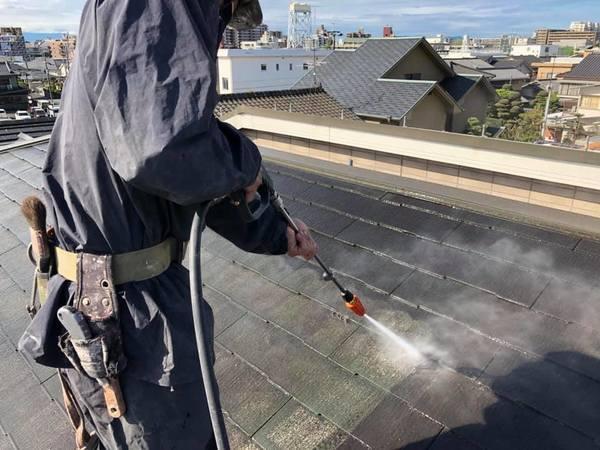 熊本市中央区大江 コロニアル屋根シリコン塗装工事-宮本建装-