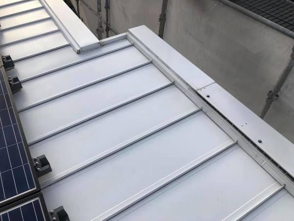 熊本県合志市にて屋根シリコン塗装工事 板金屋根タイプー宮本建装ー