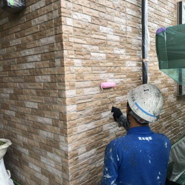 熊本市北区植木・外壁フッ素クリヤー塗装完了!