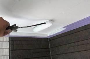 熊本市東区新築軒天井塗装!養生をしっかりして作業を行いました。ー宮本建装ーの施工後画像