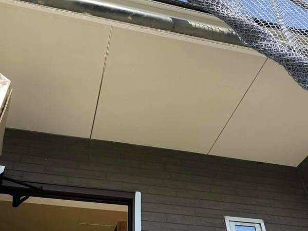 熊本市東区新築軒天井塗装!養生をしっかりして作業を行いました。ー宮本建装ー