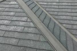 南阿蘇の住宅屋根塗装!今回は水性シリコン仕上げでした。鉄部には錆止めをきちんと塗りますの施工前画像