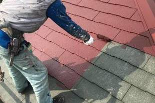 南阿蘇の住宅屋根塗装!今回は水性シリコン仕上げでした。鉄部には錆止めをきちんと塗りますの施工後画像