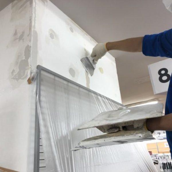 熊本市中央区・店舗内部壁、下地補修工事