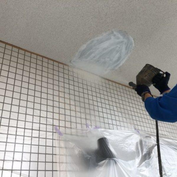 熊本市東区・マンション天井剥離箇所吹き戻し完了!