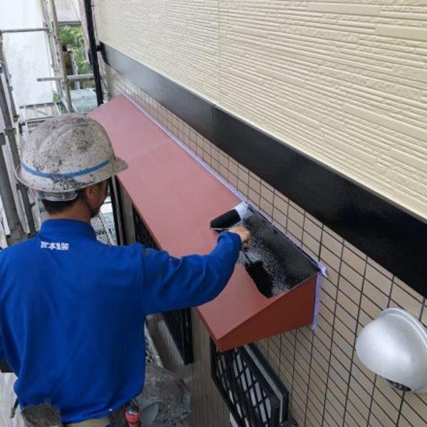 熊本市北区植木・1F東面付帯部塗装工事