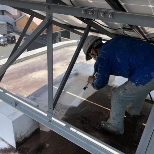 熊本市東区・屋上及び3階天井高圧洗浄完了!