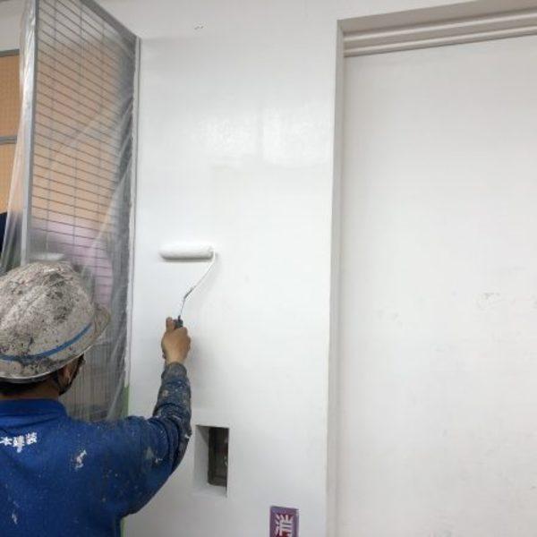 熊本市中央区・店舗内部壁EP塗装工事