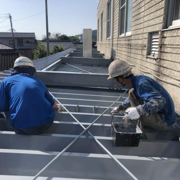 熊本県天草市・屋上防水及び折板屋根塗装工事完了!